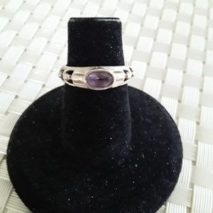 Sterling Silver Ring Light Purple Stone